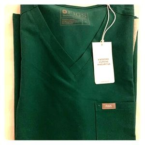 Figs Catarina one pocket scrub XL - Hunter Green